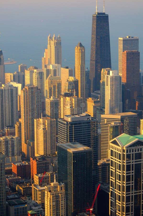 芝加哥顶视图 免版税库存照片