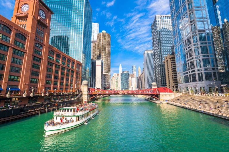 芝加哥,伊利诺伊,美国观光的巡航 免版税图库摄影