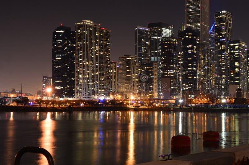 芝加哥,伊利诺伊-美国- 2018年7月1日:芝加哥地平线鸟瞰图 库存图片