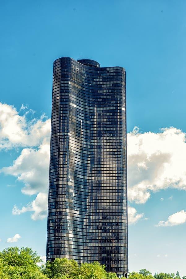 芝加哥,湖点塔 库存照片