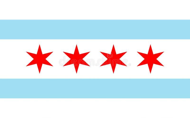 芝加哥,美国旗子  免版税库存图片
