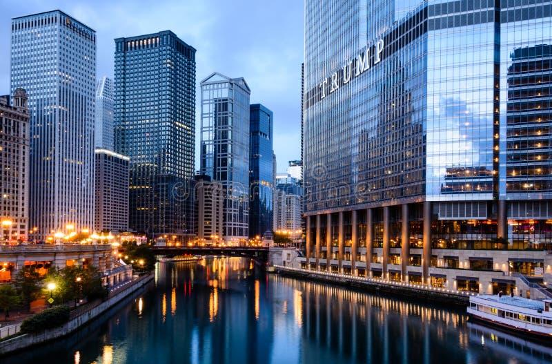 芝加哥-街市闪烁 免版税图库摄影