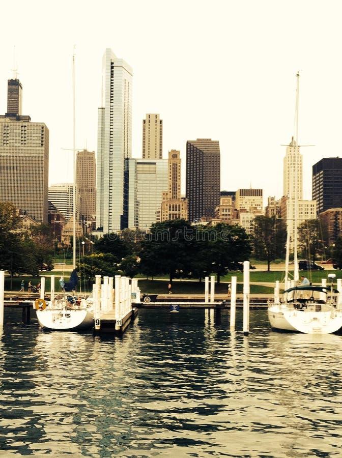 芝加哥从远方 免版税库存照片