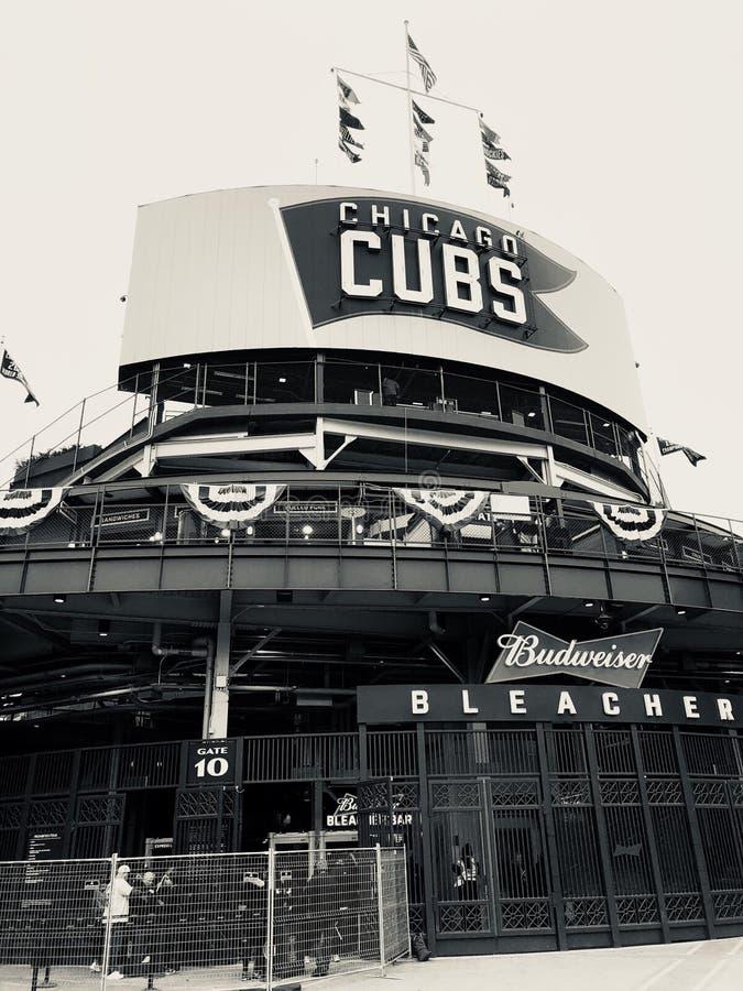 芝加哥Cub体育场 免版税库存照片