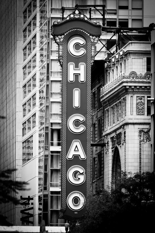 芝加哥noir符号剧院 库存图片