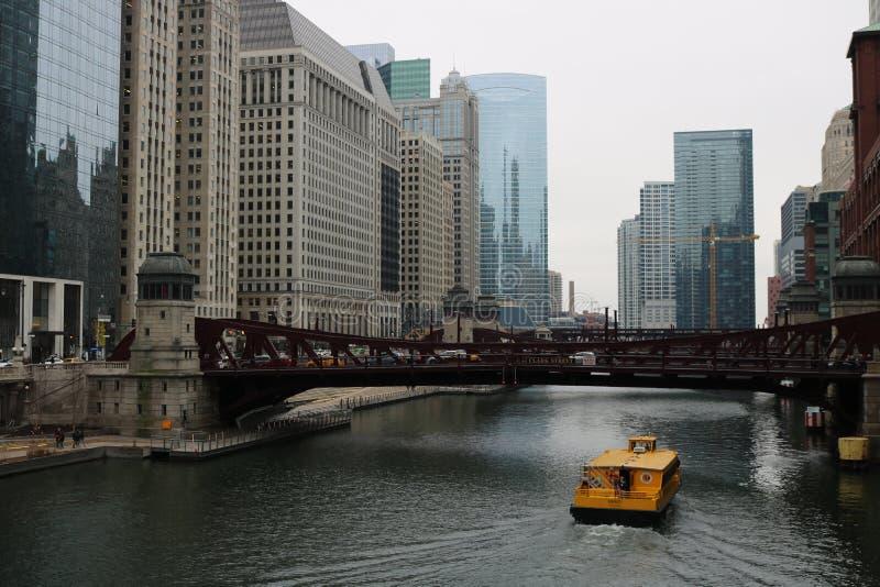 芝加哥riverwalk 免版税库存图片