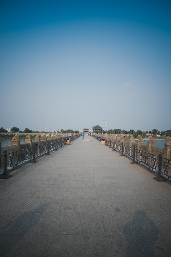 芦沟桥在北京 库存照片
