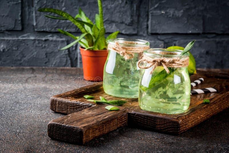 芦荟维拉或仙人掌汁 库存图片