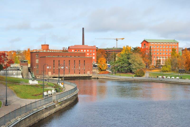 芬兰。坦佩雷在秋天 免版税库存照片