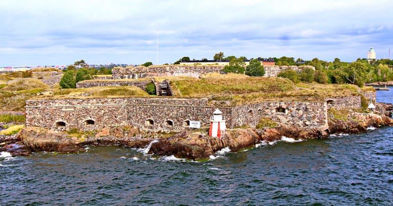 芬兰堡垒芬兰堡的本营在赫尔辛基,芬兰 免版税库存图片