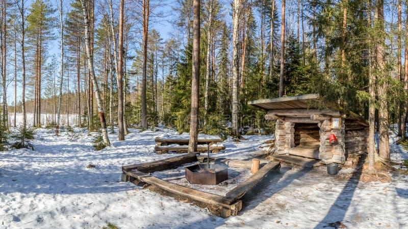 芬兰壁炉 免版税图库摄影