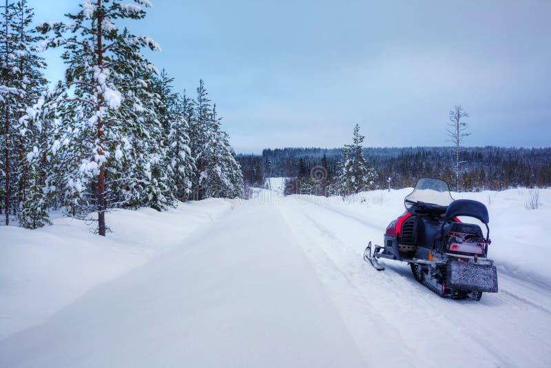 芬兰多雪的lanscape 库存图片
