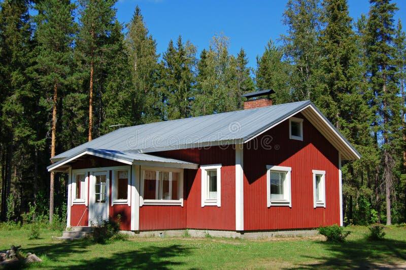 芬兰房子 库存照片