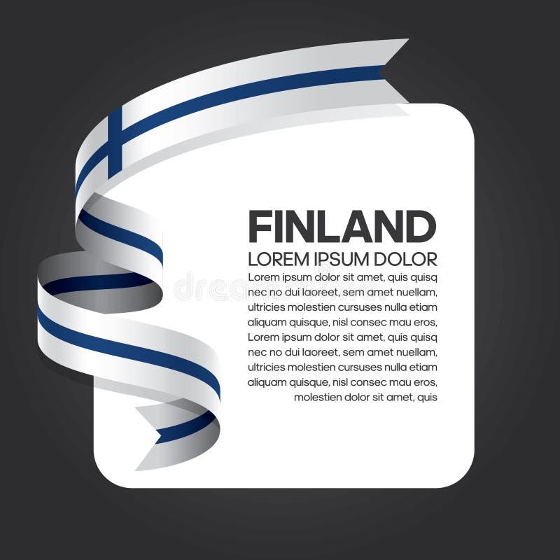 芬兰旗子背景 皇族释放例证