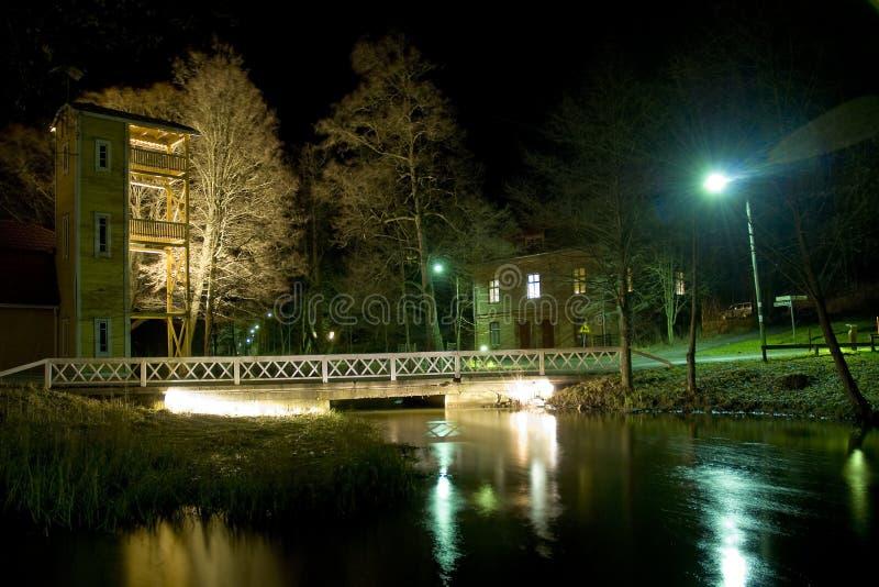 芬兰晚上农村场面 免版税图库摄影