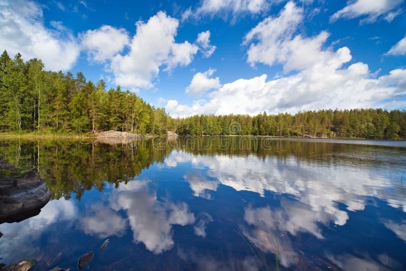 芬兰湖 免版税库存照片