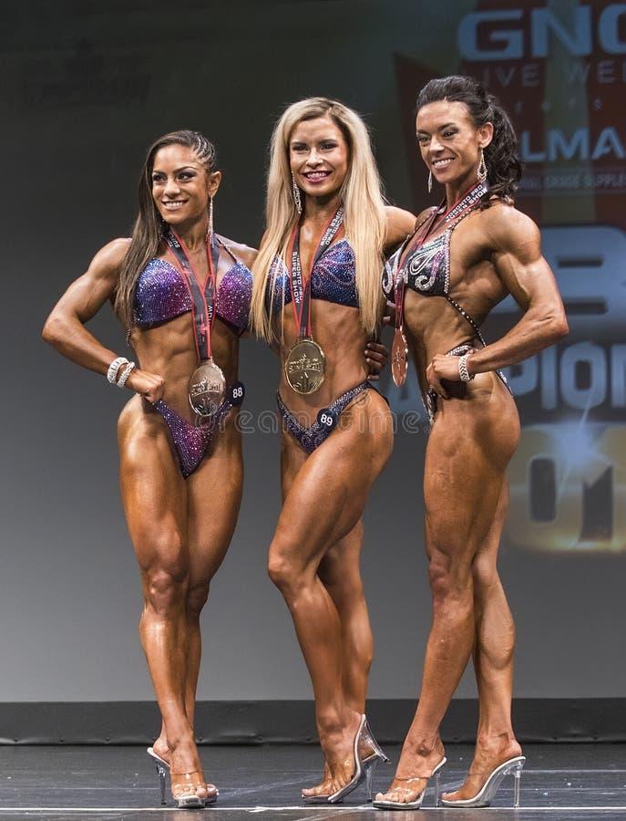 芬兰秀丽赢取多伦多健身比赛 免版税库存图片