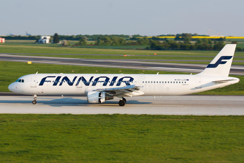 A321芬兰航空公司 免版税图库摄影