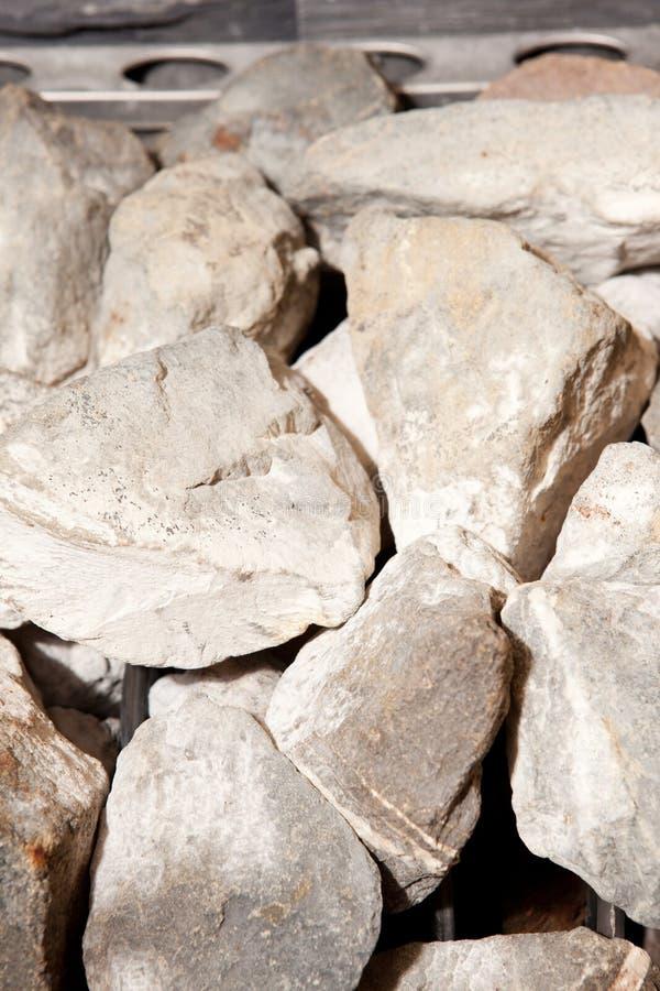 芬兰蒸汽浴岩石 免版税库存图片
