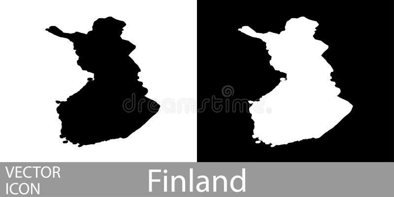 芬兰详述了地图 向量例证