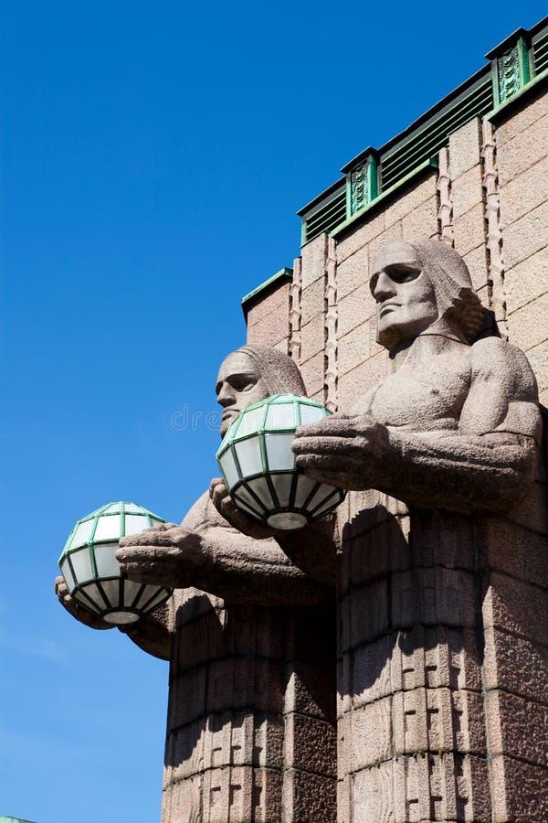 芬兰赫尔辛基主要火车站 免版税图库摄影
