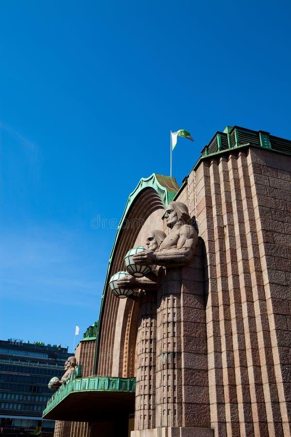 芬兰赫尔辛基主要火车站 免版税库存图片