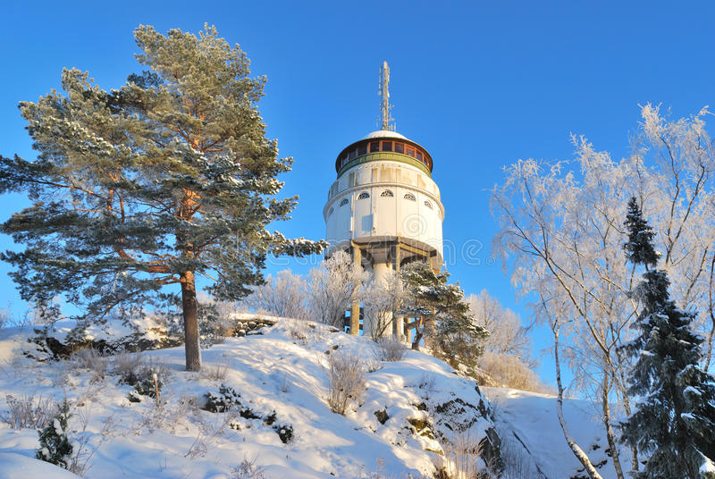 芬兰, Mikkeli。 挂接Naisvuori 免版税库存照片