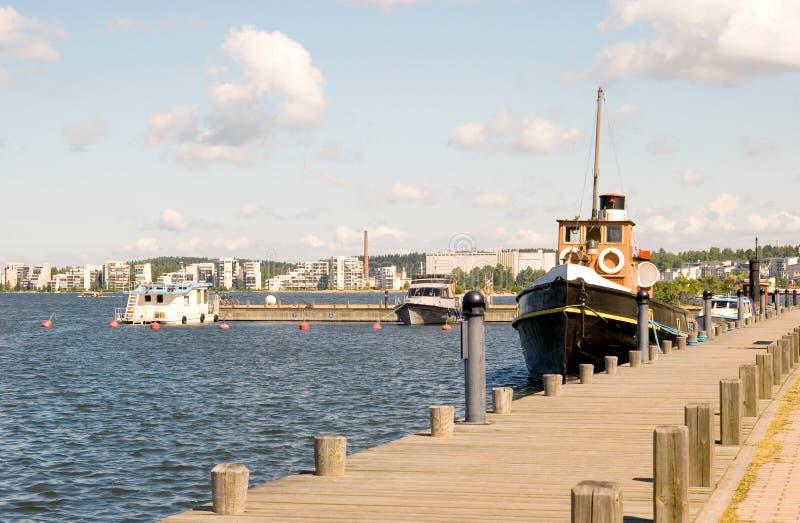 芬兰lahti湖rvi vesij 免版税库存图片