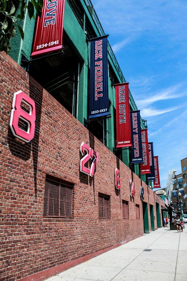 芬威球场,波士顿,麻省传奇  库存照片