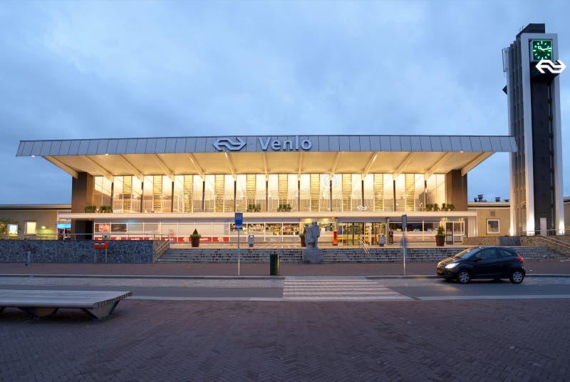 芬洛,荷兰的火车站 库存图片