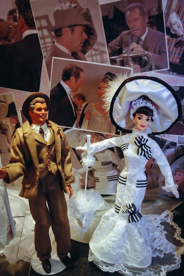 芭比娃娃玩偶展览 免版税库存图片