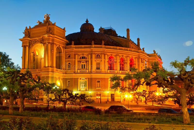 芭蕾傲德萨歌剧剧院 免版税库存照片