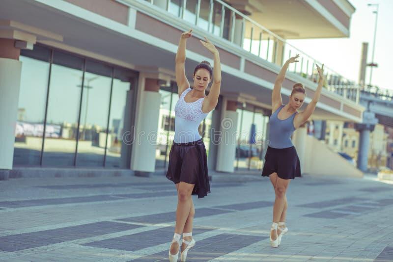 芭蕾在城市 免版税图库摄影