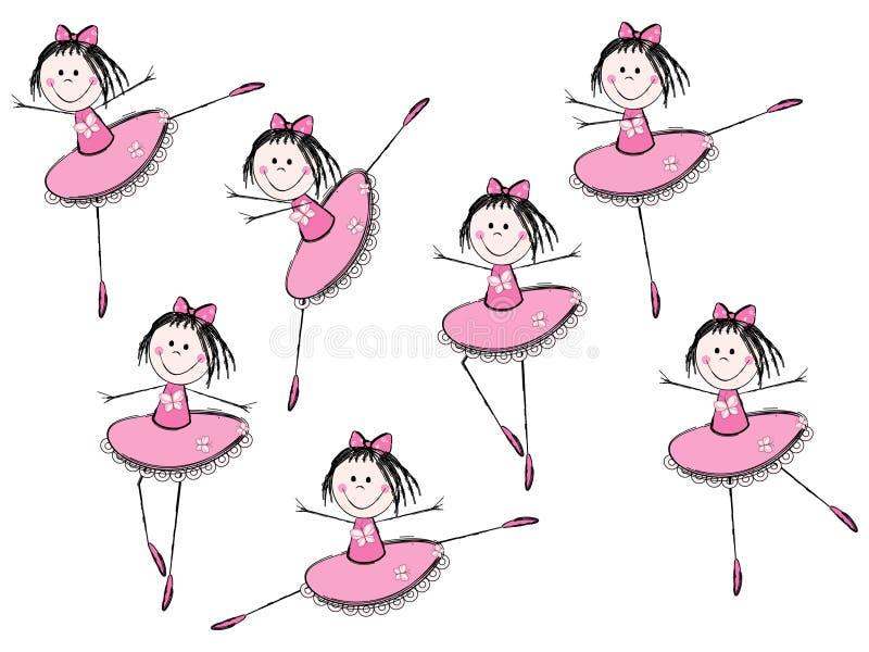 芭蕾女孩 向量例证
