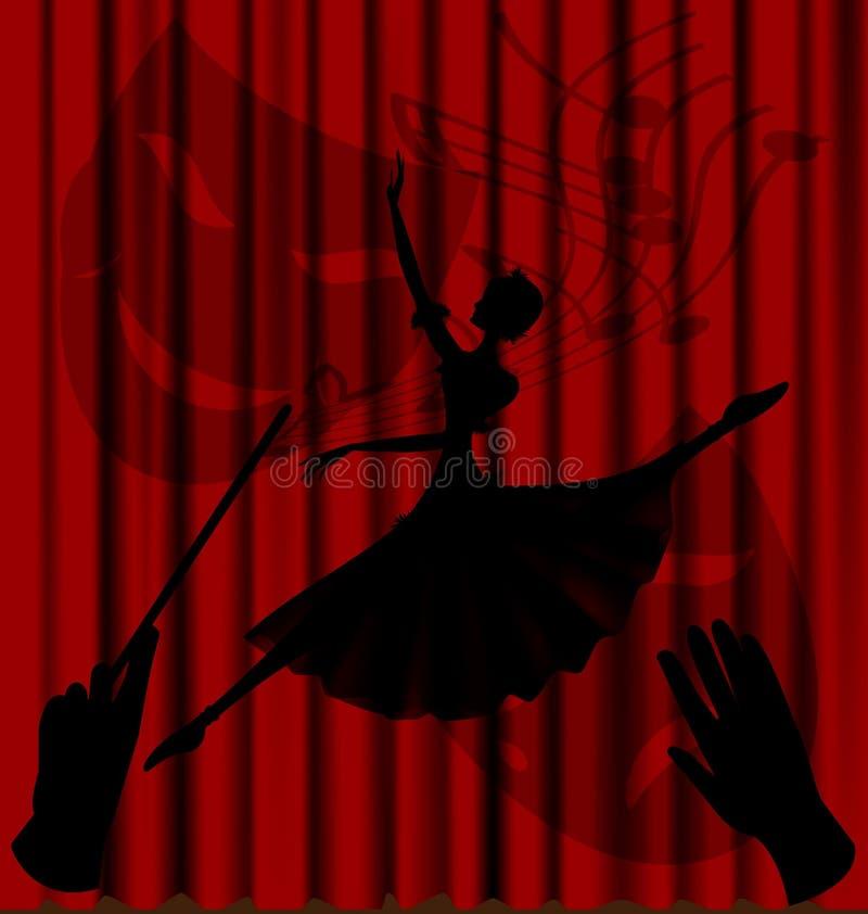 芭蕾影子 向量例证