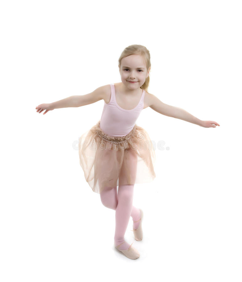 芭蕾执行女孩显示的一点 库存图片