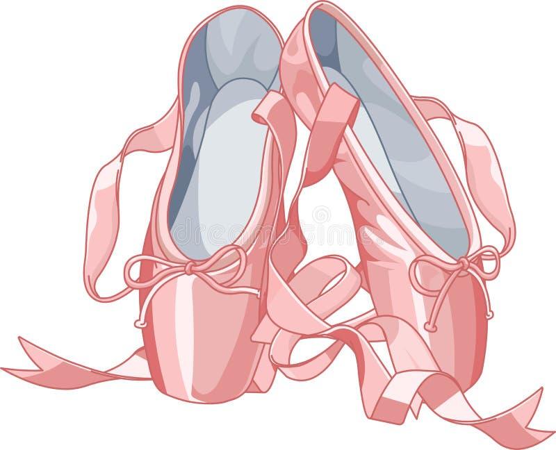 芭蕾拖鞋 向量例证