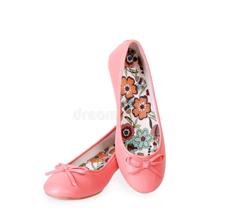 芭蕾时兴的舱内甲板粉红色 免版税库存照片