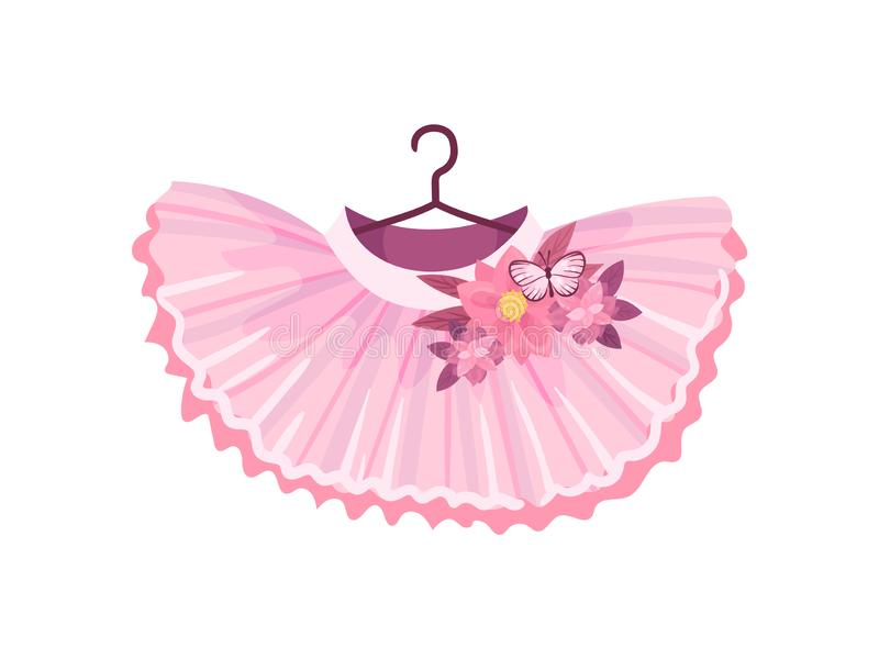 芭蕾桃红色裙子 r 皇族释放例证