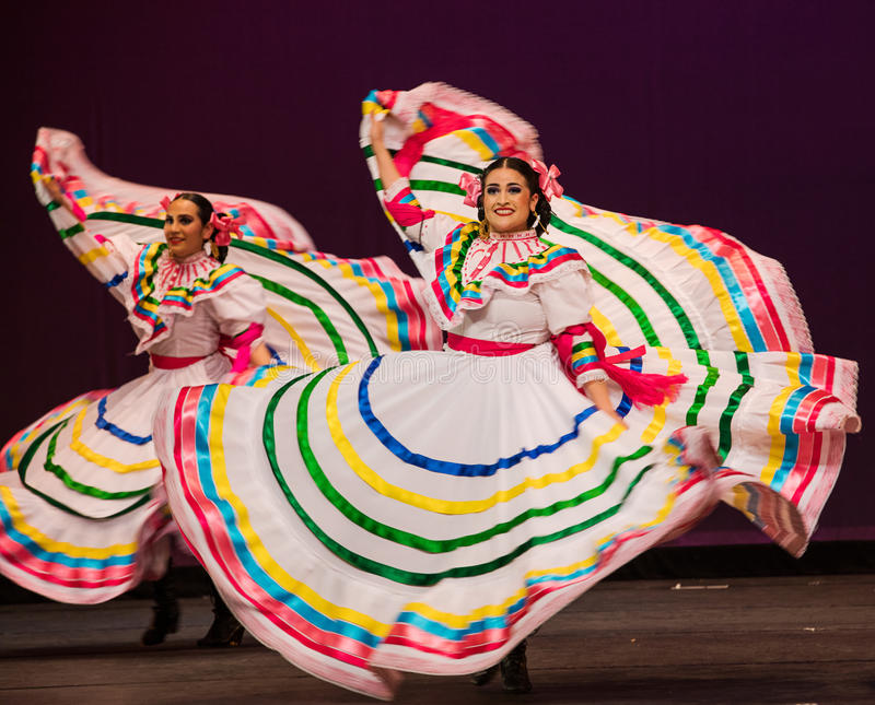 芭蕾民俗的墨西哥 免版税库存图片