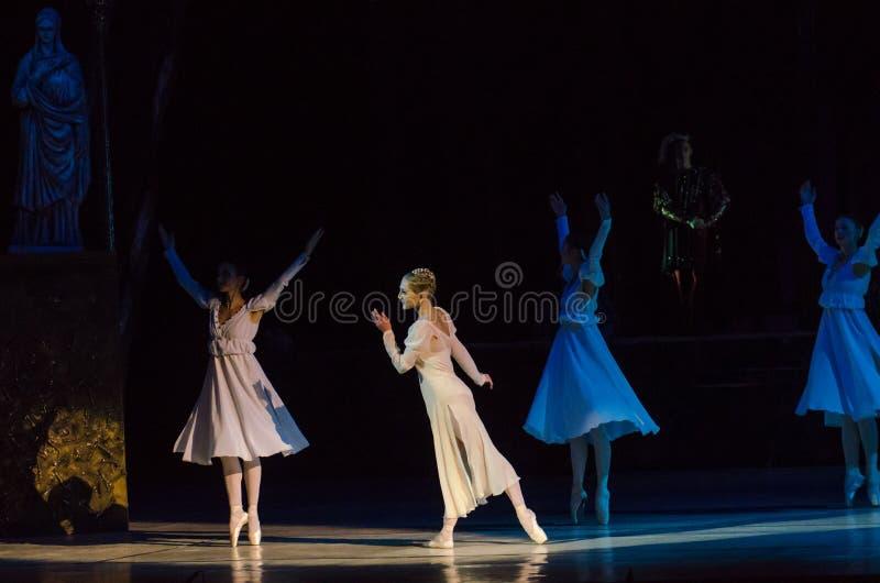 芭蕾罗密欧和朱丽叶 库存照片