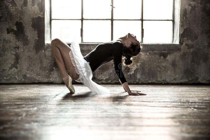 芭蕾美好的舞蹈演员设计例证 免版税图库摄影