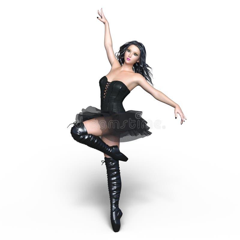 芭蕾美好的舞蹈演员设计例证 库存图片