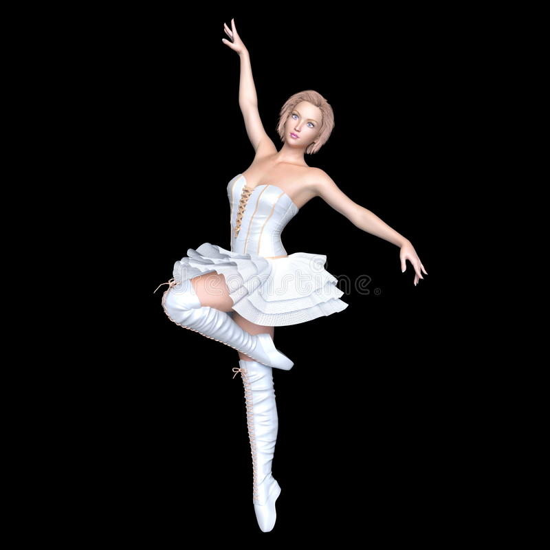 芭蕾美好的舞蹈演员设计例证 图库摄影
