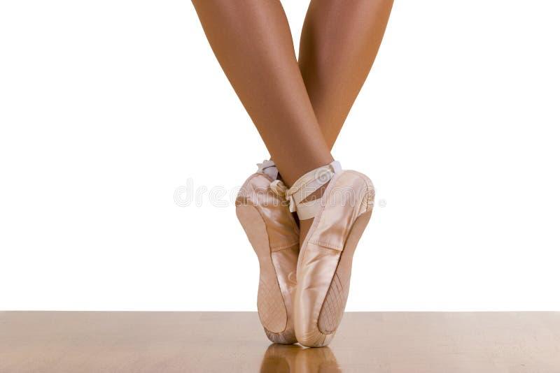 芭蕾脚尖锻炼 图库摄影