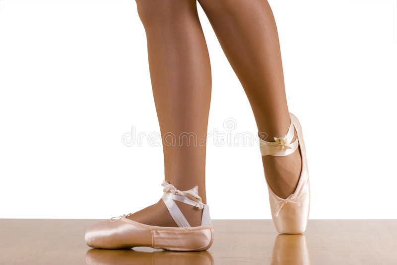 芭蕾臀部姿势锻炼 免版税图库摄影