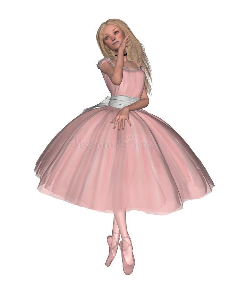 芭蕾舞女演员一点 库存例证