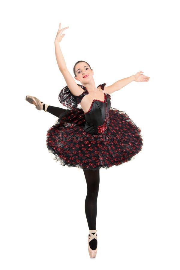 芭蕾舞女演员全长纵向 库存照片