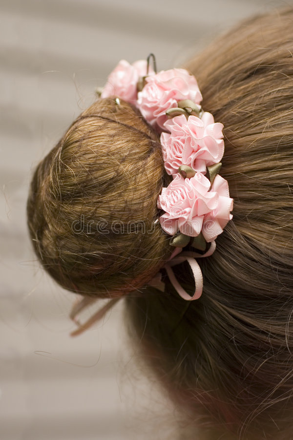 芭蕾舞女演员发型s 库存图片
