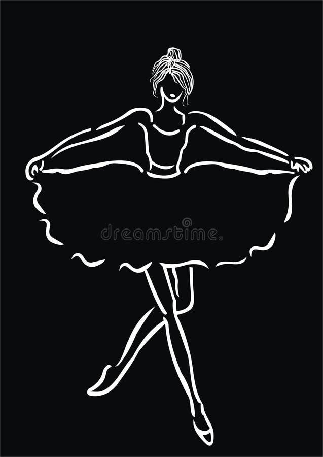 芭蕾舞女演员图标 向量例证